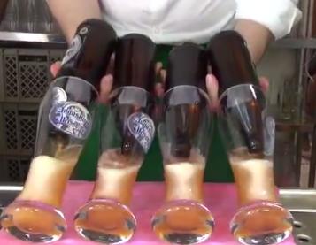 【ビールびっくり動画】はやい速い!ヴァイスビールの注ぎ方!